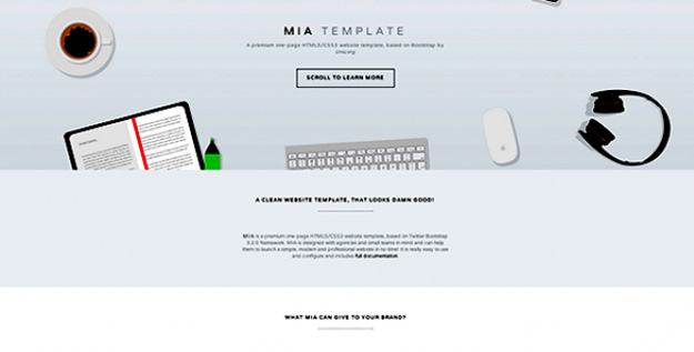 MIA one - page agency HTML template copy