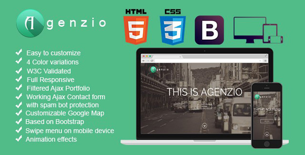 agenzio - one page responsive theme