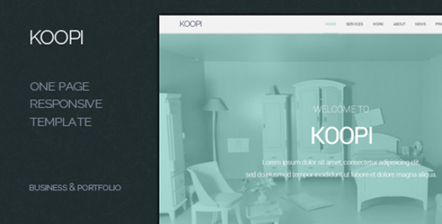 koopi - one page flat creative theme copy