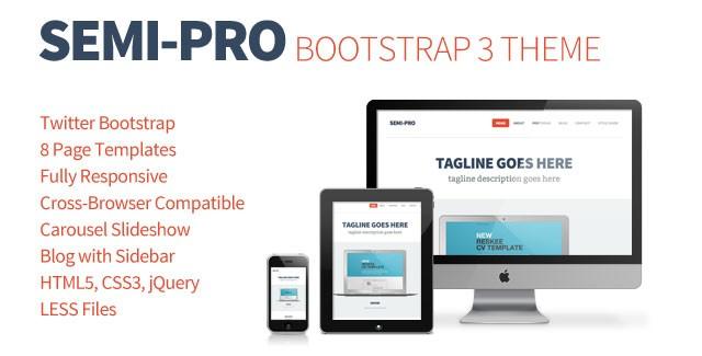semi-pro bootstrap portfolio theme
