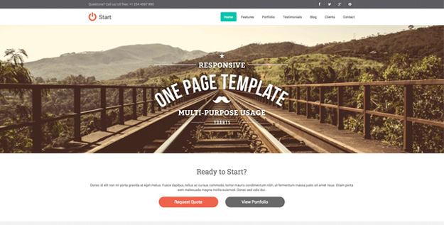 start - responsive one page template copy