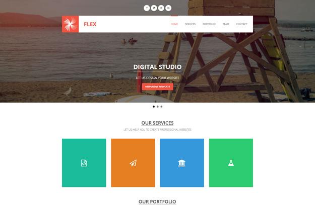 30套免费的响应式 HTML5 & CSS3 模板下载