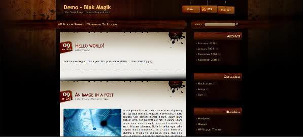 Blak Magik WordPress Theme