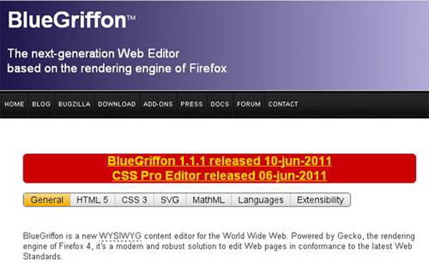 BlueGriffon-HTML