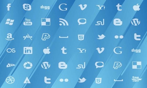 free vectors social media icons