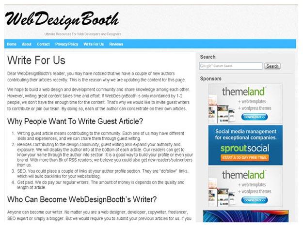 Web Design Booth