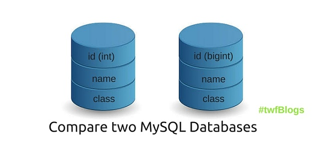 Compare two MySQL databases for any Differences