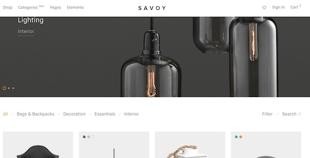 savoy ecommerce theme