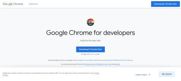 browser for developer and designer